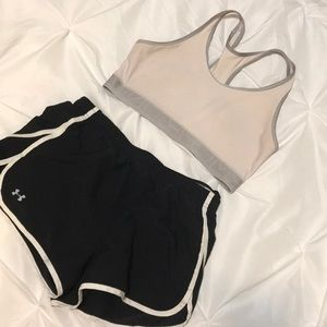 Under Armor Shorts and Sports Bra